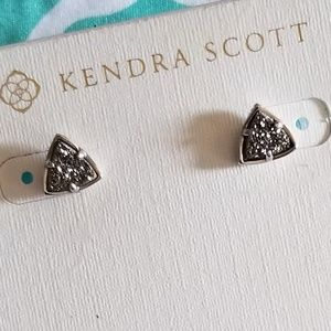 Kendra Scott Drusy Triangle Earrings
